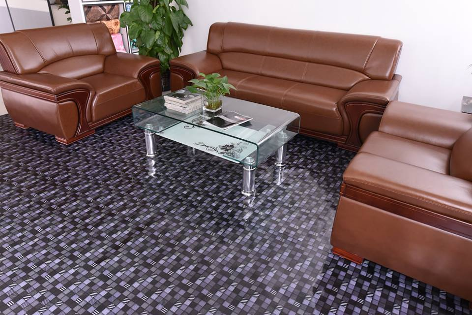Luxury pvc vinyl floor click interlocking floor view pvc vinyl